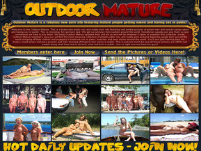 Welcome to the Outdoor Mature. This is a brand new public sex and nudity porn site featuring real private pictures of grown men and women being naked and having sex in public. This is shocking, fun and very rare. We get our pictures from nudists around the world. Sometimes people just give them us and sometimes we have to buy them. We keep Outdoor Mature updated daily and we do and will do whatever it takes to maintain this schedule. Inside Outdoor Mature member's area you will find the most amazing collection of private public sex and nudity porn pictures featuring people from around the world stripping off their clothes and engaging in hardcore sex in parks, beaches and even stores around the world. You'll see girls flashing their hot boobs, round asses and juicy pussies and men showing off huge to tiny cocks in public. This is just too much fun and all these pictures are 100% real people doing what they love to do best, strip and fuck in public. Join us right now and have fun guys!